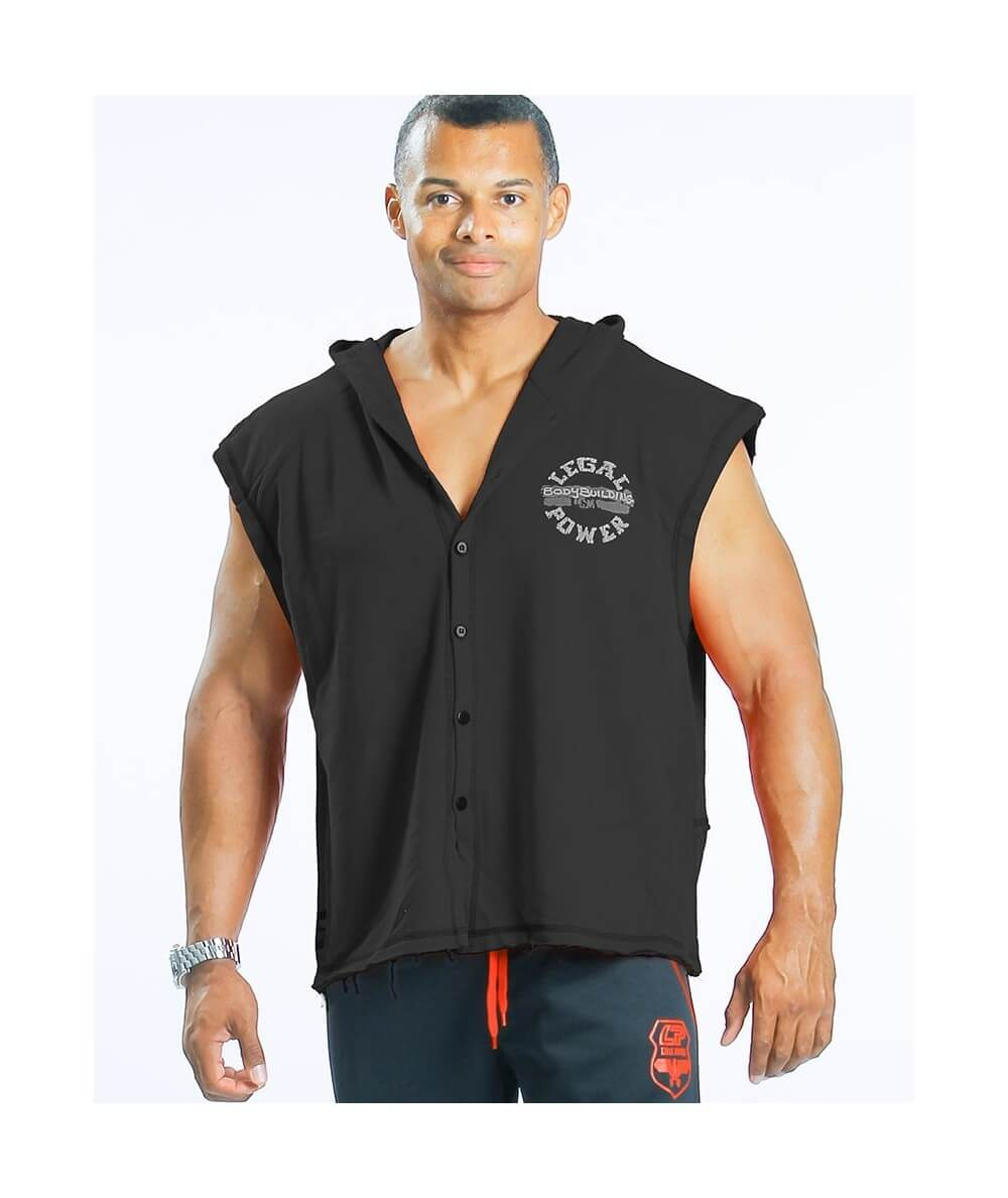 "SLEEVELESS HOODIE ""BB"" 4895-864Uomini Legal Power"