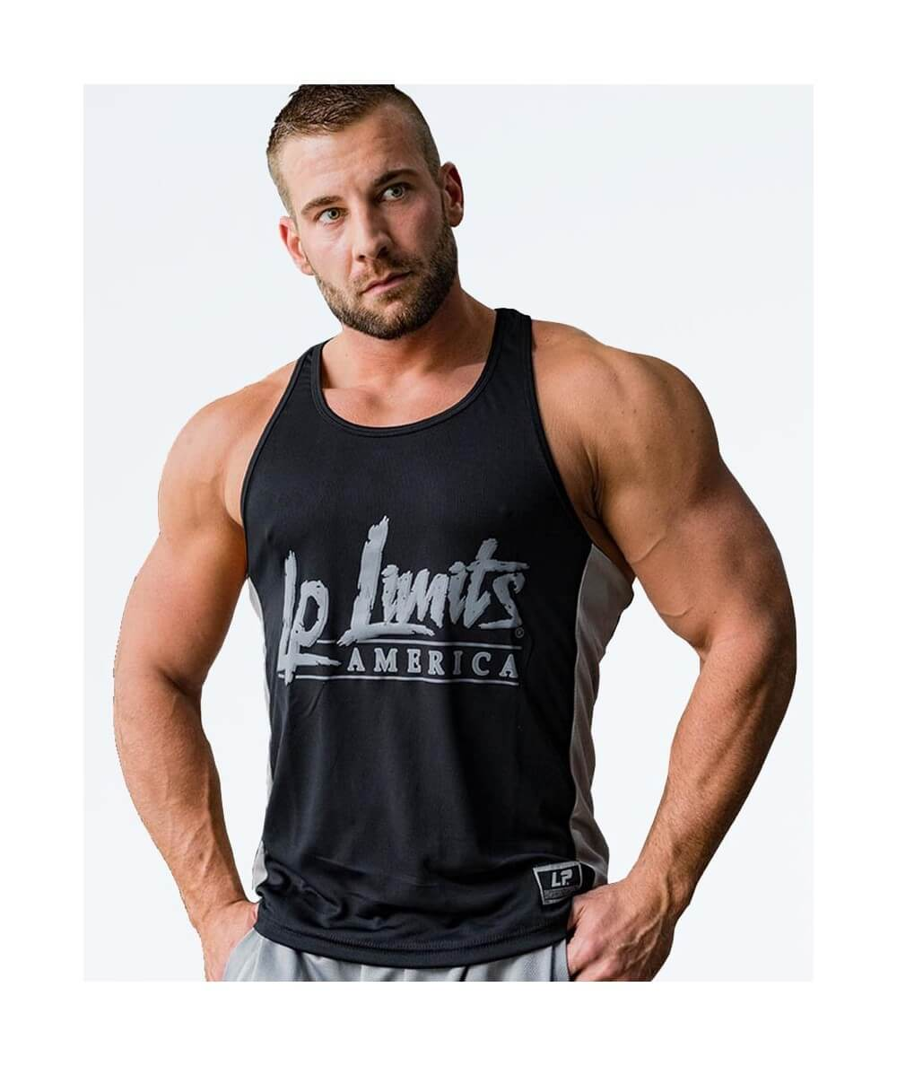 "MESH MUSCLE TANK TOP ""LP LIMITS"" 2792-760Uomini Legal Power"