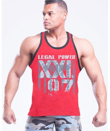 "MUSCLE TANK TOP ""LP-XXL97 EAGLE"" 2500-866HERREN Legal Power"