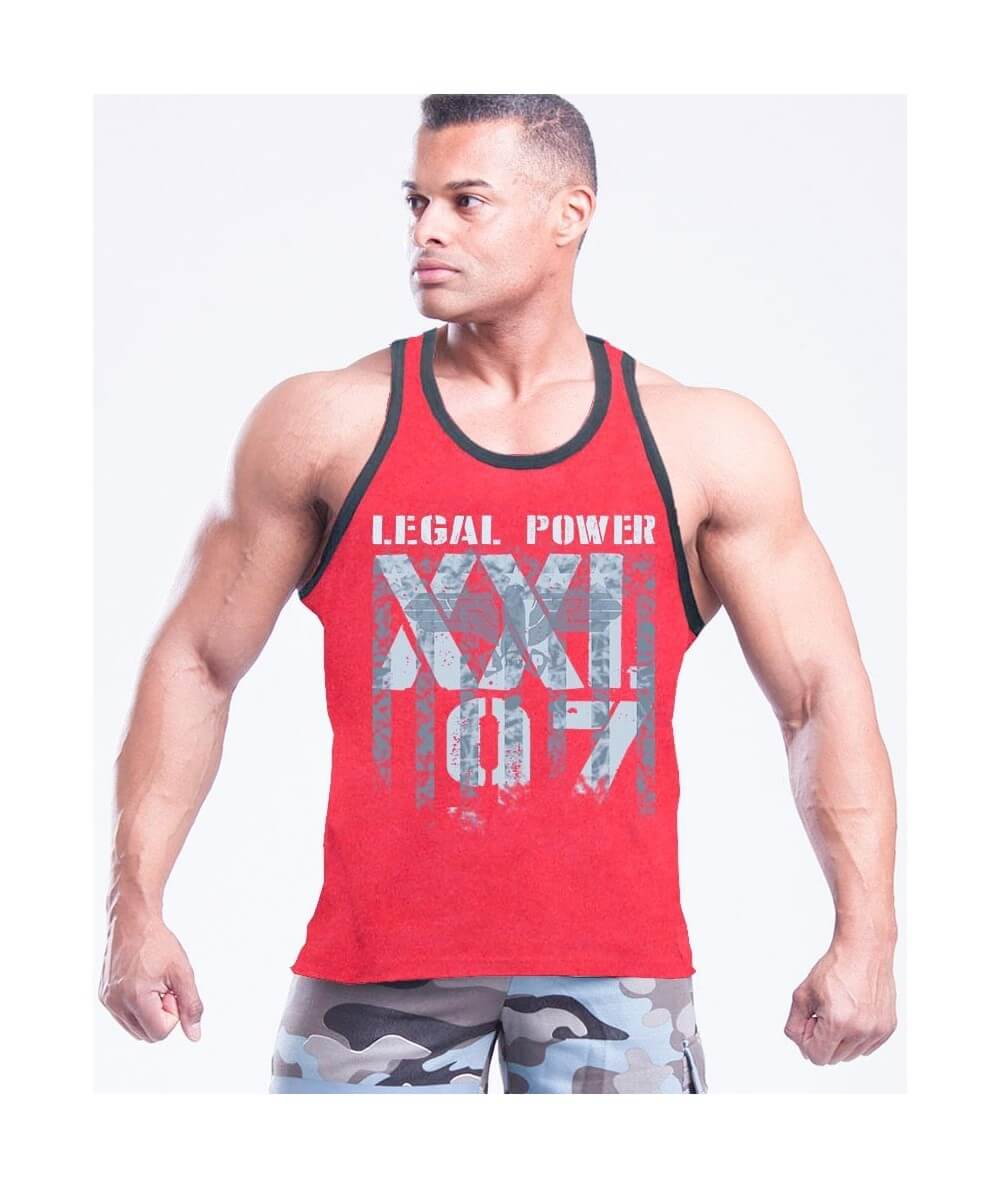 "MUSCLE TANK TOP ""LP-XXL97 EAGLE"" 2500-866Uomini Legal Power"