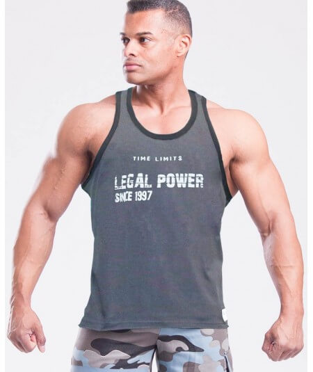 "MUSCLE TANK TOP ""TIME LIMIT"" 2757-866HERREN Legal Power"