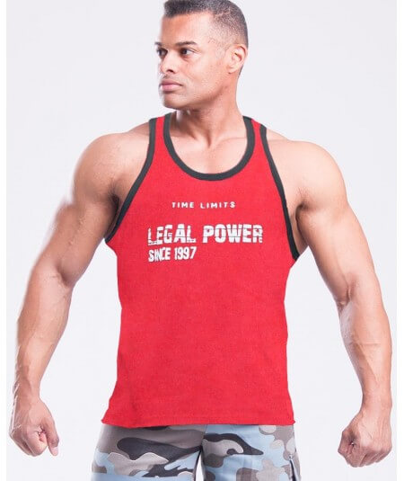 "MUSCLE TANK TOP ""TIME LIMIT"" 2757-866MEN Legal Power"