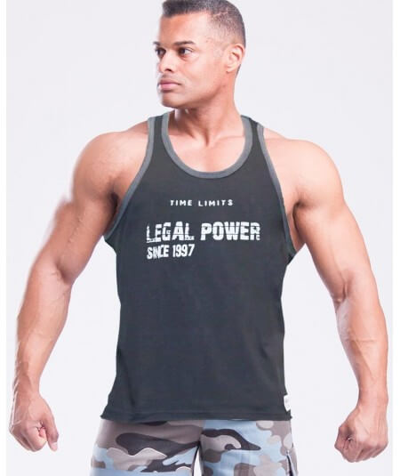 """MUSCLE TANK TOP """"TIME LIMIT"""" 2757-866HERREN Legal Power"""