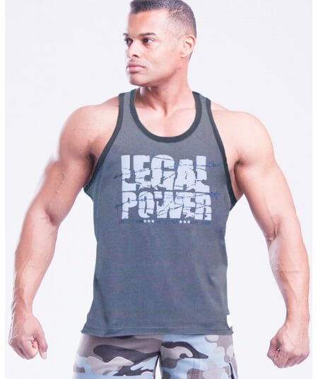 "MUSCLE TANK TOP ""BARBED WIRE"" 2780-866SALE Legal Power"