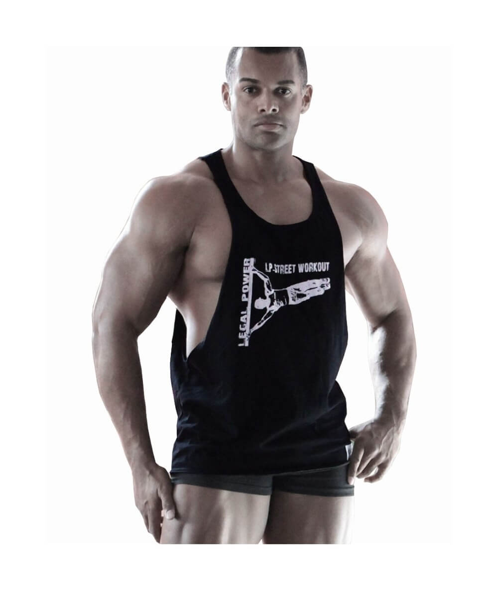 "MUSCLE TANK TOP ""LP-STREET WORKOUT"" 2797-866SALE Legal Power"
