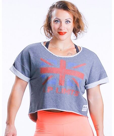 "SHORT TEE ""UNION JACK""  601-864WOMEN Legal Power"