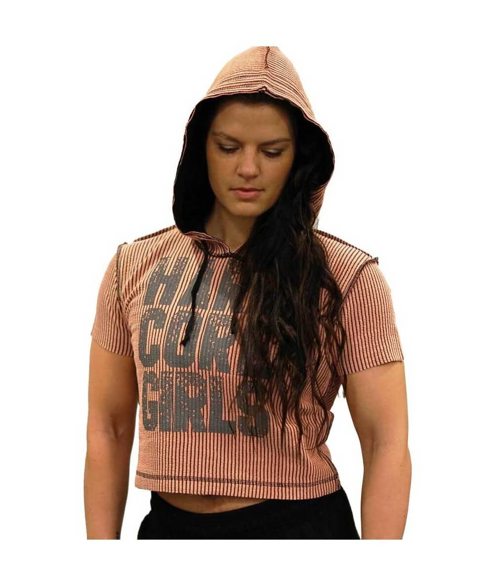 HARDCORE GIRLS SHORT HOODIE 699-405DAMES Legal Power