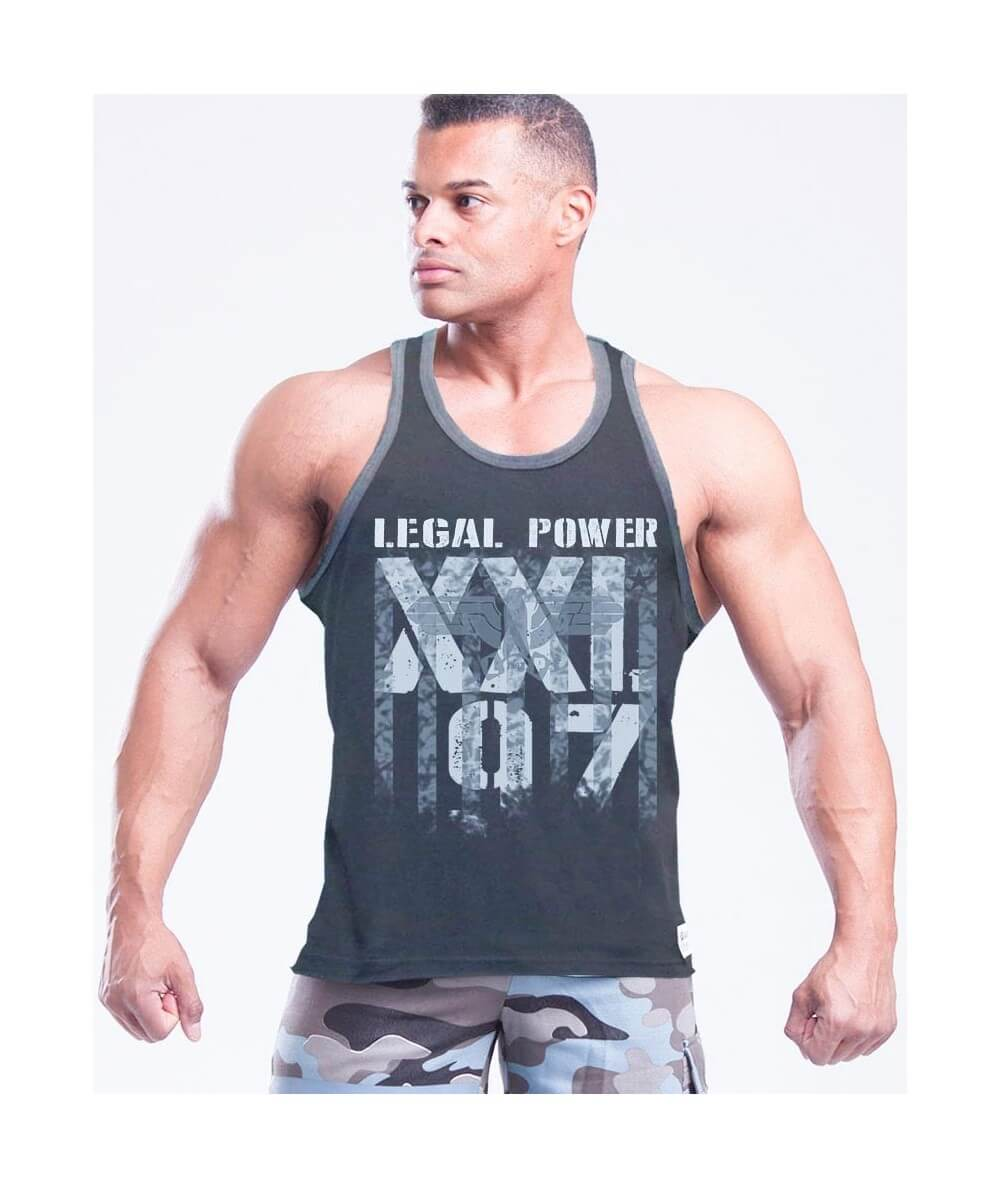"MUSCLE TANK TOP ""LP-XXL97 EAGLE"" 2505-866HERREN Legal Power"